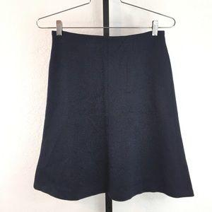 LOFT-Navy Blue A-Line Midi Elastic Skirt-SP